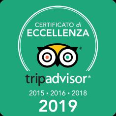 Ristorante Affori - Certificato di Eccellenza Tripadvisor 2015, 2016, 2019 e 2019